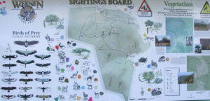 Weenen Game Reserve, Sightings Board